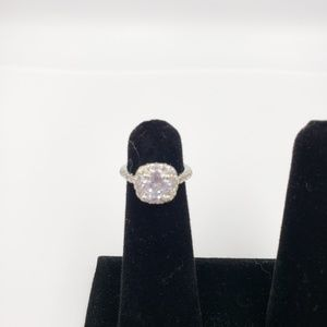 NWOT Silver Tone Svarovski Element Crystal Ring.